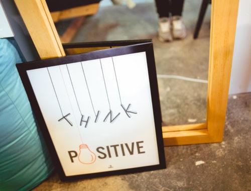Pensée positive affiche
